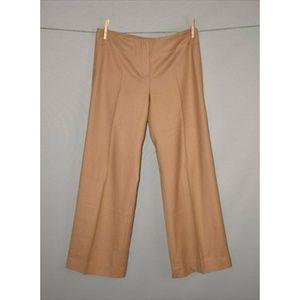 CHLOÉ Khaki Wide Leg Wool Trouser Pant